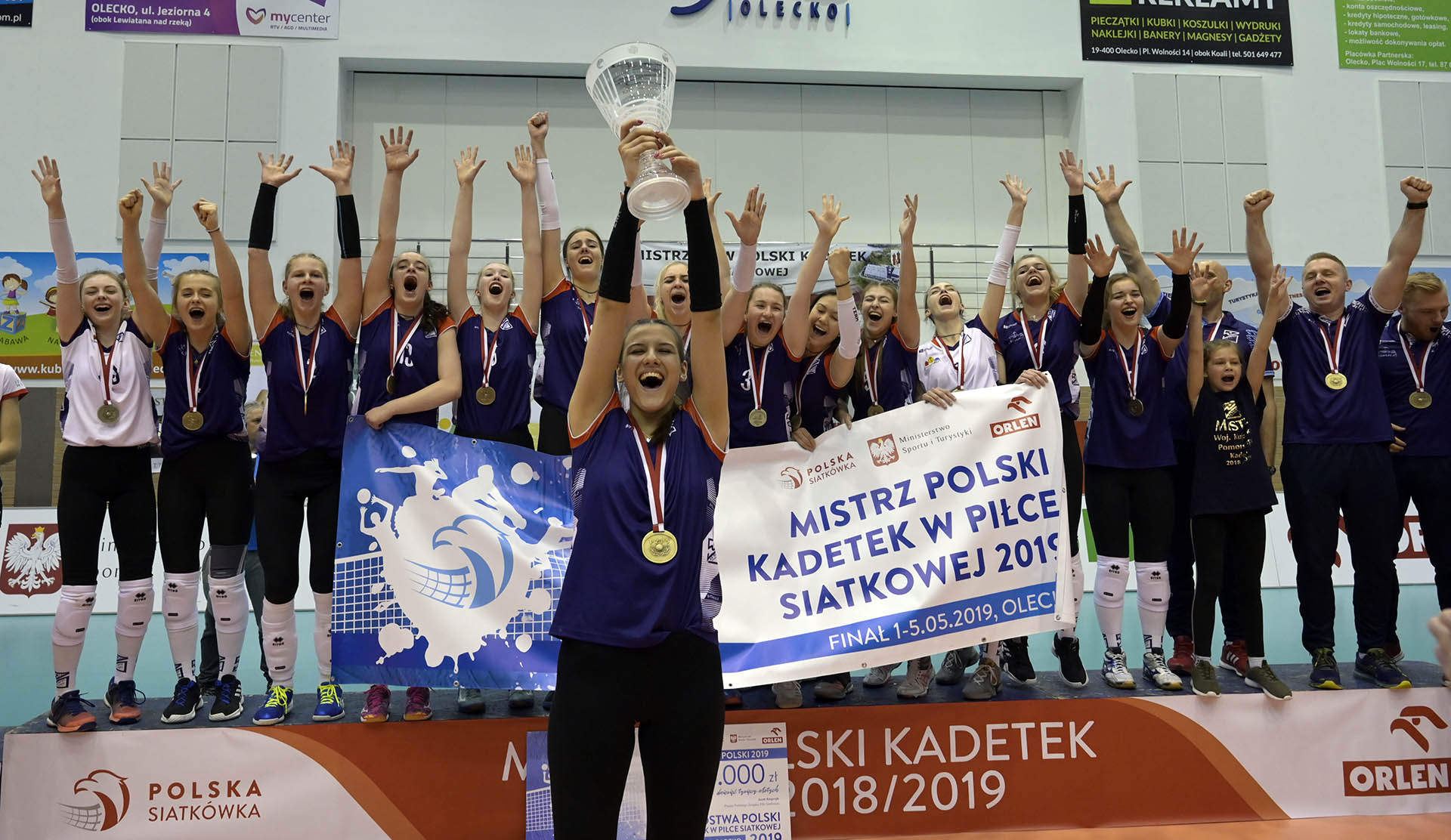 MP kadetek - Olecko 2019: KS Pałac Bydgoszcz złotym medalistą
