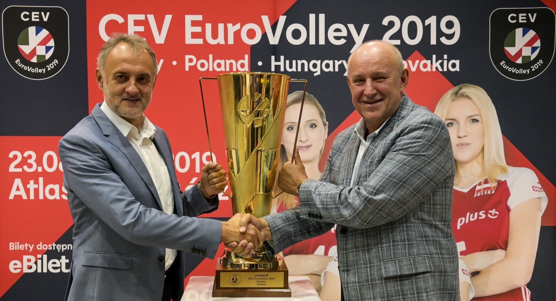 #EuroVolleyW trophy now touring Volleyland