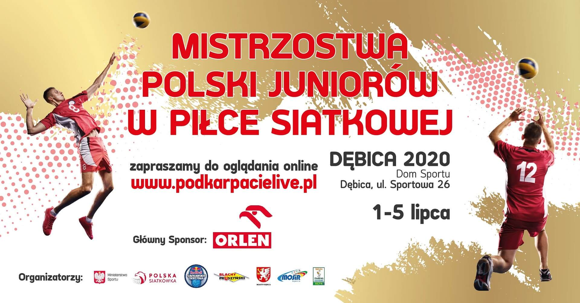 MP juniorów 2020 Dębica - program