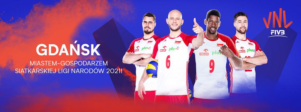Gdańsk – Miastem-Gospodarzem Siatkarskiej Ligi Narodów mężczyzn 2021
