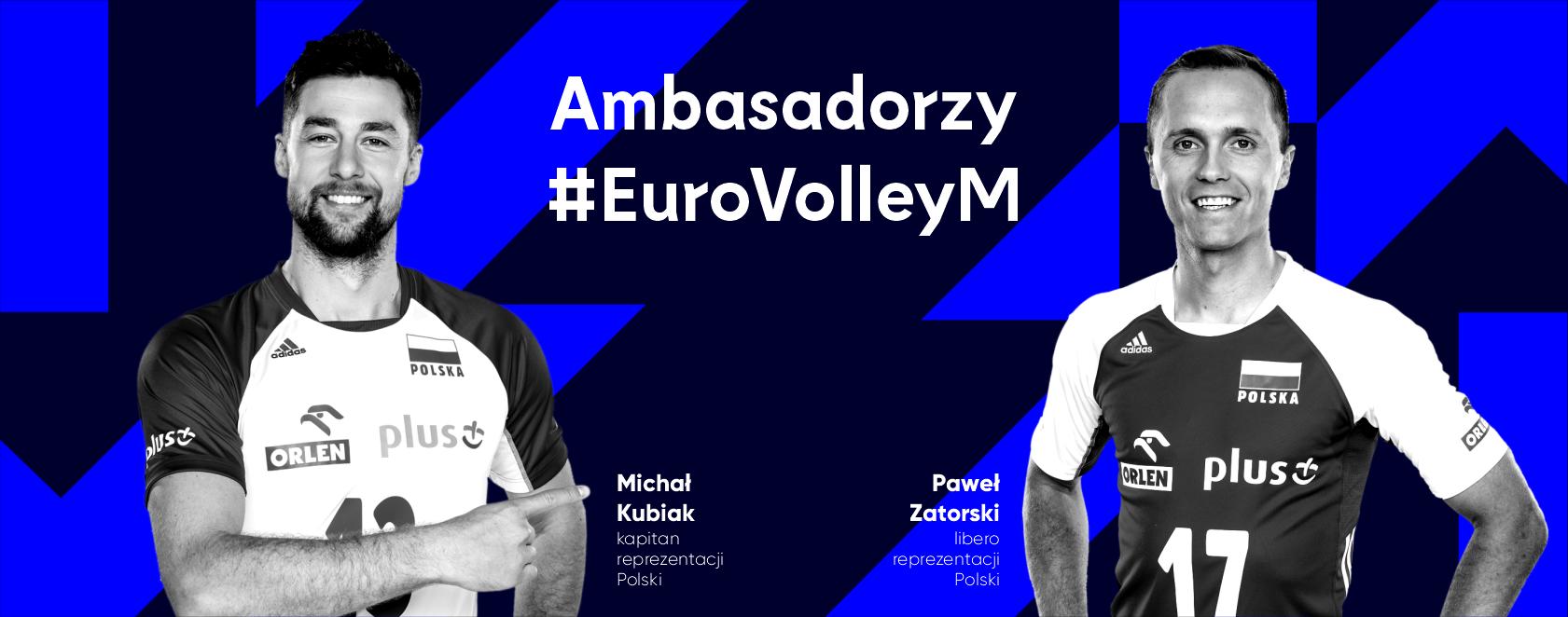 Michał Kubiak i Paweł Zatorski ambasadorami EuroVolley2021